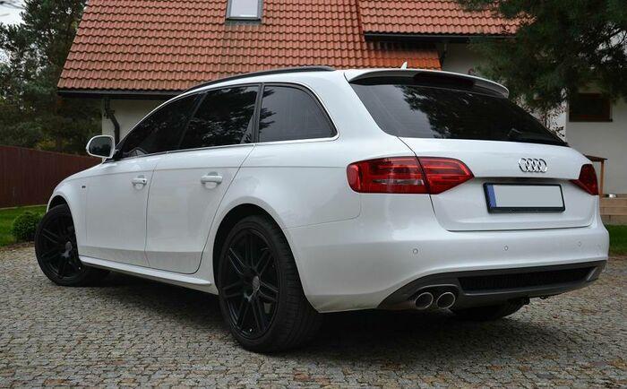 Audi a4 b8 08 14 avant s line takaspoileri tuning design for S line exterieurpaket a4