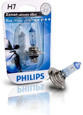 philips h7 55w bluevision ultra xenon look polttimo. Black Bedroom Furniture Sets. Home Design Ideas