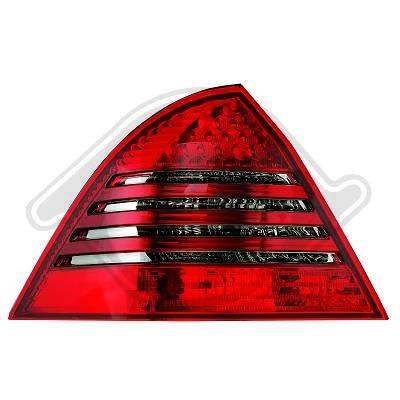 Mercedes W203 C 04-07 sedan puna/tummat led takavalot