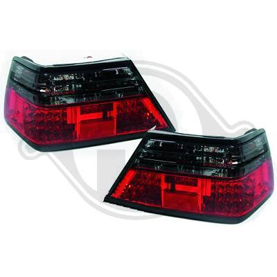 Mercedes W124 sedan coupe cabrio 85-95 puna/tummat LED takavalot