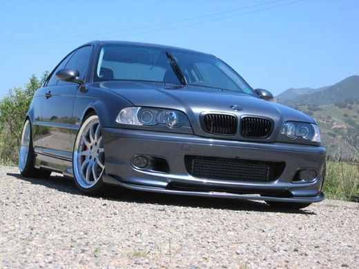 BMW E46 98-05 sedan touring coupe cabrio  M-tech etupuskurin diffusori