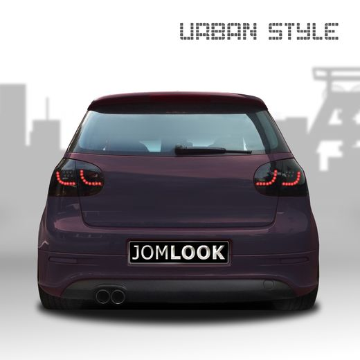VW Golf V 03-08 urban style tummat LED takavalot