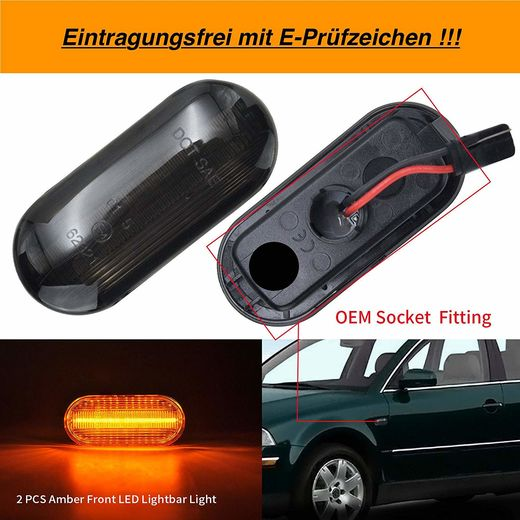 VW Golf IV ym. led light bar tummat sivuvilkut