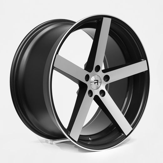 R1 BLACK POLISH 19x8.5x9.5 5/112 Audi VAG & MB