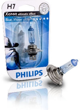 Philips H7 55W bluevision ultra xenon look polttimo