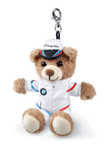 BMW M motorsport nalle avaimenperä