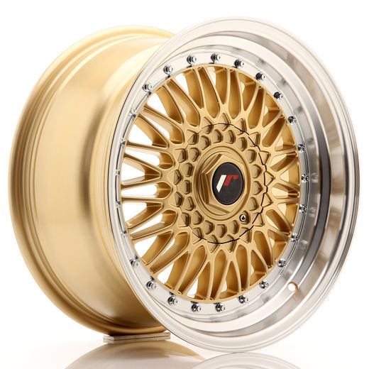 "Japan Racing JR9 Gold 17"" 5x120/112  8½"" et20 & leveät 10"" et20 vanteet"