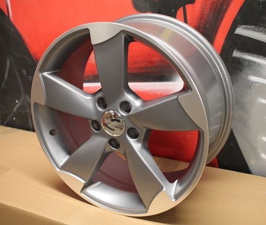 Racing line 5-spoke 18x8 matta gun metal 5x112