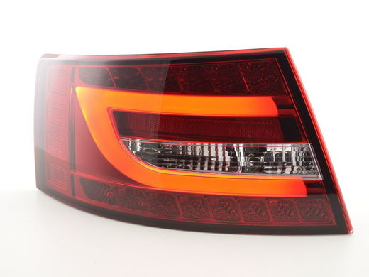 Audi A6 C6 4F sedan 04-08 punakirkkaat led bar takavalot