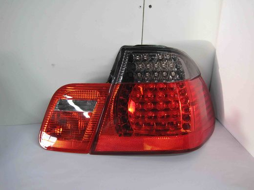 bmw e46 sedan punatummat led takavalot