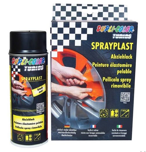 Duplicolor spray plast matta musta 400ml