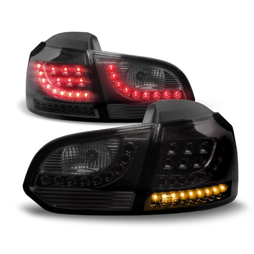 VW Golf 6 08-12, new design tummat LED takavalot