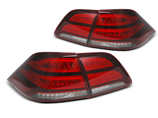 Mercedes ML 11-15 punakirkkaat led bar takavalot