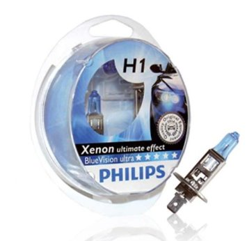 Philips H1 bluevision ultra xenon look polttimo 2kpl