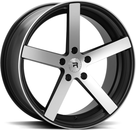R1 BLACK POLISH 19x8.5 5/112 Audi VAG & MB